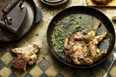 Garlicky Georgian Poussins recipe: Butter, plenty of garlic, coriander, dill, and tarragon. #food52