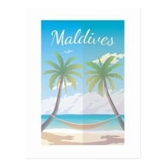 Get your hands on a customizable Maldives postcard from Zazzle. Find a large selection of sizes and shapes for your postcard needs! Visit Maldives, Maldives Travel, Maldives Holidays, Travel Wall Art, Travel Illustration, Ultimate Travel, Vintage Travel Posters, Wedding Programs, Fine Art Paper