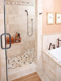 We'd like a bench in the shower. Also need to look more at what type of shower tiling we would have (big or small, light or dark color, etc.)