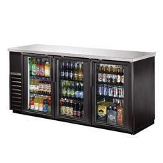 True 72 Inch Glass Swing Door Back Bar Cooler Great for pool house! Or entertainment basement room!