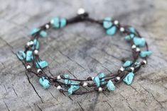 Beaded Anklets, Anklet Jewelry, Anklet Bracelet, Stone Bracelet, Beaded Jewelry, Turquoise Stone, Turquoise Jewelry, Turquoise Bracelet, Bracelet Making