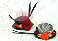Заколки своими руками в виде шляпки - подарок для девочки