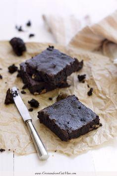 Brownie de algarroba [sin gluten]