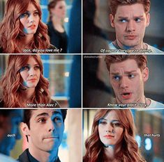 -- Alec's face had me between laughing and laughing so hard I was crying Shadowhunters Malec, Clace, Alec And Jace, Clary Y Jace, Jace Wayland, Alec Lightwood, Cassie Clare, Dominic Sherwood, Shadowhunters The Mortal Instruments