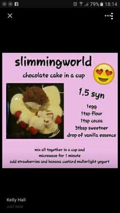 Cake with carrot and ham - Clean Eating Snacks Slimming World Brownies, Slimming World Deserts, Slimming World Syns List, Slimming World Puddings, Slimming World Recipes Syn Free, Slimmimg World, Chocolate Mug Cakes, Chocolate Syns, Chocolate Pancakes