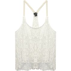 Sheer Lace Boho Tank ($15) ❤ liked on Polyvore featuring tops, shirts, tanks, tank tops, sleeveless shirts, white tank, crochet shirt, racer back tank and floral tank top