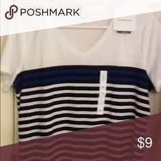Classic striped tee Stripes in blue and black in a great design. croft & barrow Tops Tees - Short Sleeve