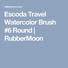 Escoda Travel Watercolor Brush #6 Round | RubberMoon