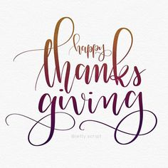 24/30 #thxgivinglettering - Today and every day I'm thankful for all of you sweet ppl in the hand lettering community. Thank you for all the love and encouragement! 💖 #thanksgiving #🦃 #leftyscriptbrushes #LSfude