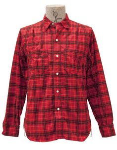 Flannel Camp Shirt Red