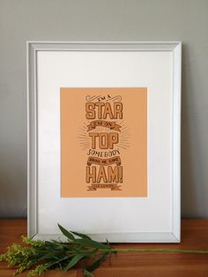 A print that lets everyone know how famous you are and exactly what they should do about it.