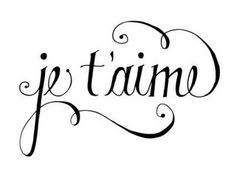 je-taime calligraphy by {this is glamorous}.