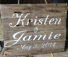 Pallet Art, Wedding Sign, Wooden Sign, Engagement, Save The date, Distressed, Shabby Chic, Rustic, Primitive Sign on Etsy, $50.00
