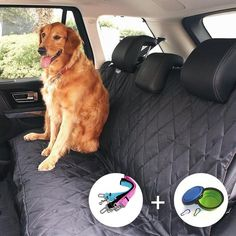 Waterproof Pet Seat Cover for Cars and SUV. This dog seat cover is padded and quilted for luxurious. Pet Car Seat Cover is designed tokeep your. Back Seat Car Covers, Pet Seat Covers, Large Dog Crate, Large Dogs, Car Seat Protector, Pet Stroller, Dog Car Seats, Pet Carriers, Best Dogs