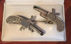Vintage Extremely Rare Austrian Working Ornate Pinfire Cufflinks by CremedelaCuff on Etsy