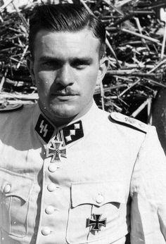 """derwiduhudar: """"Gerhard Bremer, in white waffen SS uniform. Spring 1942. """""""