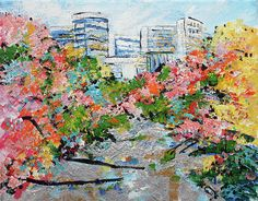 Colorful Trees Painting - River In Arlington 2 201689 by Alyse Radenovic