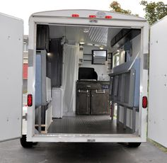This is the story of one couple's utility trailer to camper conversion. They took a used 6 x 10 cargo trailer and turned it into a mini-camper with lots Utility Trailer Camper, Cargo Trailer Camper Conversion, Toy Hauler Camper, Box Trailer, Trailer Storage, Small Trailer, Camper Trailers, Travel Trailers, Airstream Campers