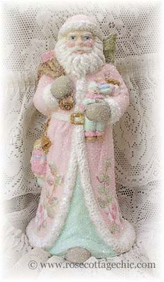 ♥ In the Pink! Pink Christmas Decorations ♥ Pink Santa                                                                                                                                                                                 Mehr