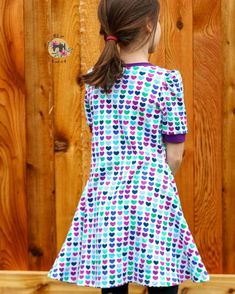 @5outof4patterns posted to Instagram: This dress is so pretty! This is the NEW Kids' Wanda pattern and it's love! Those puff sleeves are adorable! Wanda comes in crop, top, tunic, or dress length and includes three sleeve lengths. The sleeve can be finished with a hem, cuff, or elastic. There are also pockets for the dress option!! The Kids' Wanda comes in sizes 0/3 months to 14. There is also a matching women's version! Links in bio! #5outof4patterns #pdfsewingpatterns #5oo4 #pdf #isew…