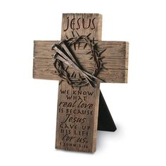 A cross to put out as a prominent display during the Lenten season. A reminder to the whole family to offer up small sacrifices during the penitential season.