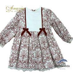 b9261ace0 Comprar Vestido para niña ANAVIG de manga larga estampado abstracto