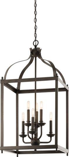 Kichler Larkin 6-Light Foyer Pendant Olde Bronze 42568OZ   LampsUSA