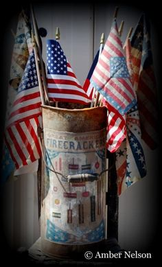 Old antique rusty bucket filled with flags americana Yankee Doodle Dandy, Happy Birthday America, Star Spangled Banner, Patriotic Decorations, Old Glory, Happy 4 Of July, American Flag, American Pride, American Spirit