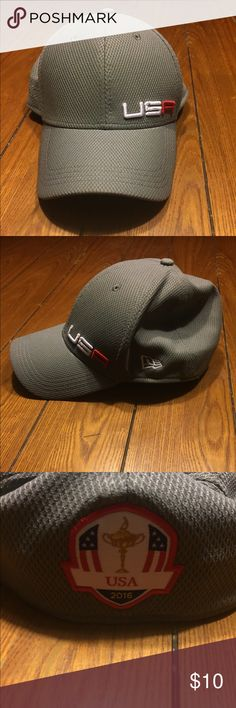 Official 2016 Ryder Cup This New Era Golf Cap is THE Official hat worn by team USA for the 2016 Ryder Cup, worn only a few times, this cap is flawless! Show your patriotism with this collectible golf cap. Pet free, smoke free home New Era Accessories Hats