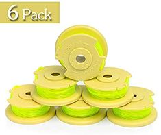 Amazon.com : Future Way 6-Pack String Trimmer Spools Replacement for Ryobi 18v, 24v, 40v Cordless Trimmers, Pre-Wound Weed Eater String, Easy to Install : Garden & Outdoor Lawn Care, 6 Packs, Outdoor Gardens, Weed, Packing, Strong, Future, Amazon, Easy
