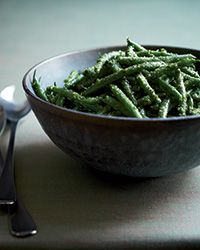 Green Beans with Parsley-Lemon Pesto Recipe on Food & Wine | 11.26.13 - Not bad. I was a little worried when I tried the pesto on its own and found it really strong, but it mixed well with the green beans. Provided a good, fresh, lemony flavor.