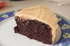 Chocolate Cake With Peanut Butter icing - so delicious and the cake is so moist!