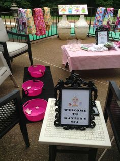 Spa Birthday Party Ideas!  See more party planning ideas at CatchMyParty.com!