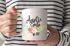 Aunt Mug, Auntie Mug, Personalized Mug, Custom Mug, Gift for her, Personalized Coffee Mug, Pregnancy Announcement, Aunt to be gift, new baby