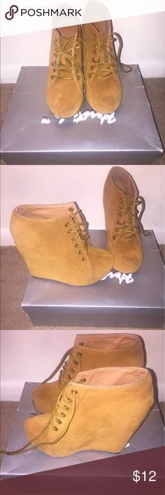 Suede booties Very comfortable to wear. Been worn a couple of times but still in good condition Shoes Ankle Boots & Booties