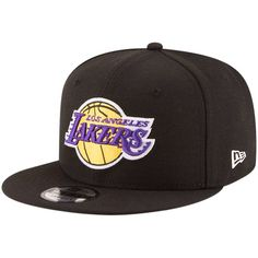 Los Angeles Lakers New Era Official Team Color 9FIFTY Adjustable Snapback  Hat - Black 2f6dac29f68
