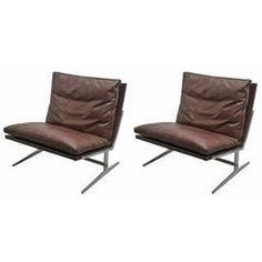 Midcentury Preben Fabricius and Jorgen Kasthol Leather Chairs