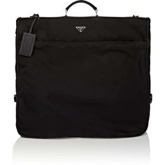 Prada Men's Leather-Trim Garment Bag (69,310 THB) ❤ liked on Polyvore featuring men's fashion, men's bags, black, mens garment bag, mens travel bag, mens leather travel bag, prada mens bags and mens leather bag
