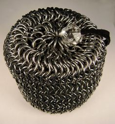 d20 Chainmail Dicebag Pouch