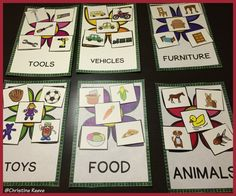 Great for teaching about characteristics and functions of common vocabulary, this set includes sorting activities as well as color by category, color by feature, function or category, and bingo dauber activities for identifying pictures when described.  Great for #ABA and #autism $3