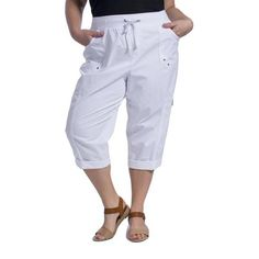 just my size by hanes women's plus-size french terry capris | wal