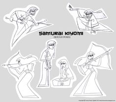 How to Carve Roast Unicorn is daily pop culture and Web inspiration found by me and fed to you in tasty, bite-sized viewing proportions. Samurai Jack Aku, Female Samurai, Body Reference, Drawing Reference, Fantasy Character Design, Character Art, Fantasy Characters, Female Characters, Cartoon Network