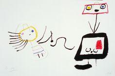 "Theaterliebe: SCHREISSE! -  König UbuJoan Miro, Drawing for ""Ubu Roi"" 1953"