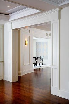 Love the trim around the doors PCM Project & Construction Management Inc. - Your builder of new, luxury, custom built homes in Oakville and Mississauga. New Homes Oakville. Home Renovation, Home Remodeling, Baseboard Styles, Moldings And Trim, Moulding, Shoe Molding, Crown Molding, Molding Ideas, House Trim