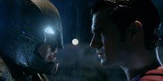 Batman (Ben Affleck) and Superman (Henry Cavill) face off - Batman v Superman: Dawn of Justice | DC Comics