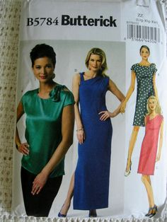 Butterick Misses Womens Pullover Top and Dress Sewing by Vntgfindz