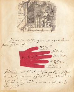 Alcune rare immagini di un manoscritto illustrato di Hans Christian Andersen via @frizzifrizzi