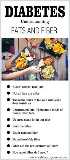 Diabetes: Understanding Fats and Fiber