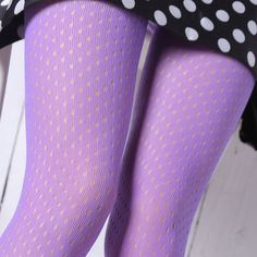 Beautiful Purple Knee High Fishnet Pantyhose Summer Spring Hollow Out Mesh Female Long Stockings Tights For Women Girls  #Affiliate