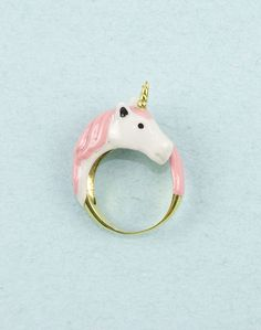 Pink Unicorn Ring. $55.00, via Etsy.